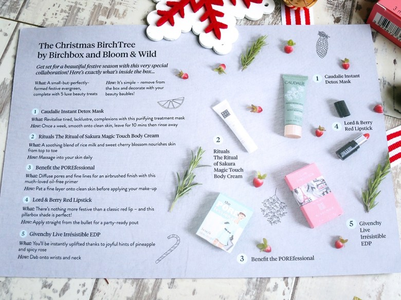 The Christmas BirchTree by Birchbox and Bloom and Wild