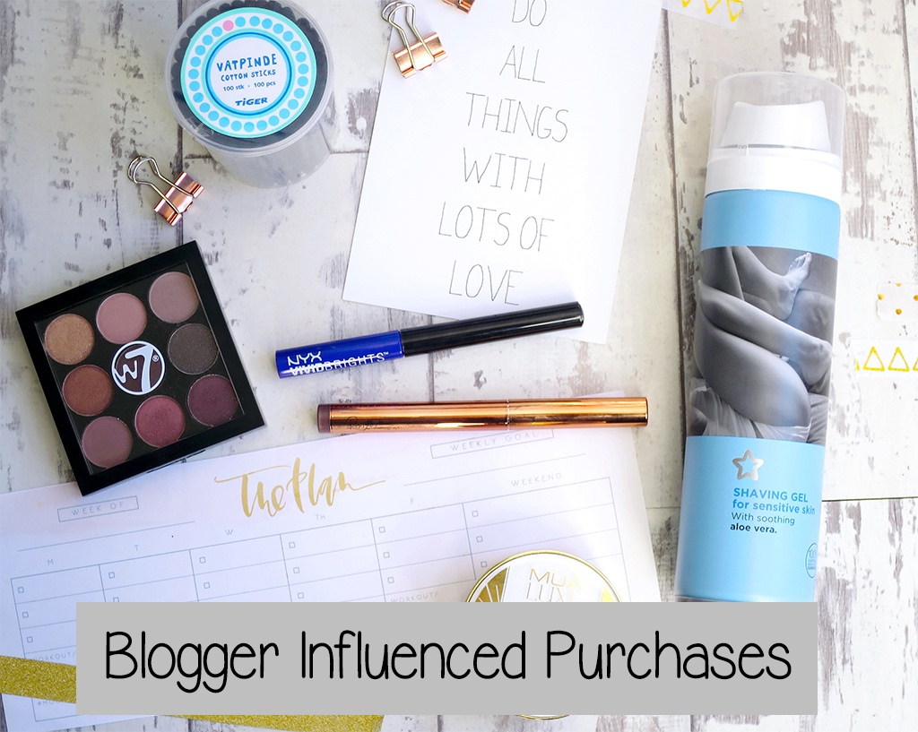 Blogger Influenced Beauty Purchases