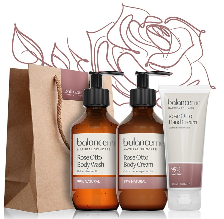 balanceme Rose Otto Skincare Products
