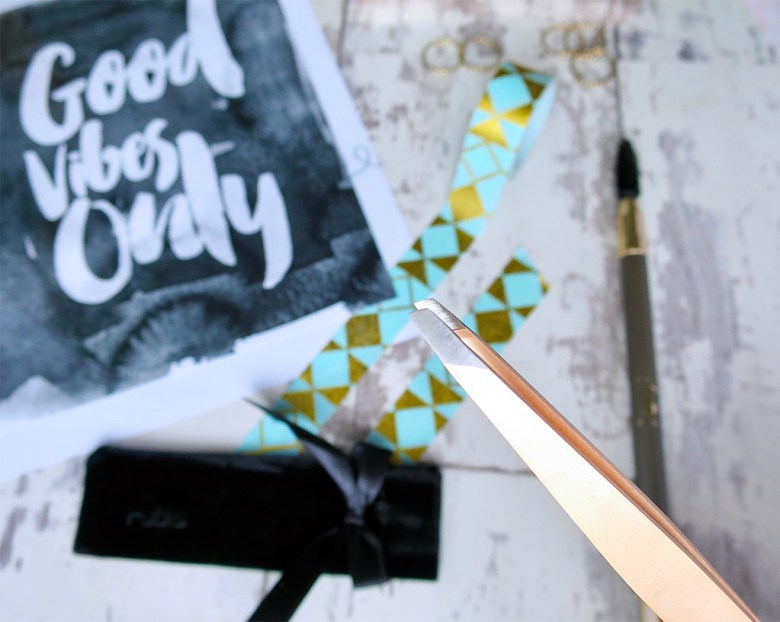 pretty rose gold tweezers