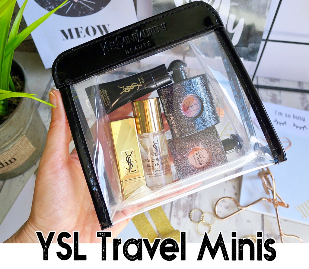 YSL Products in Travel Miniatures