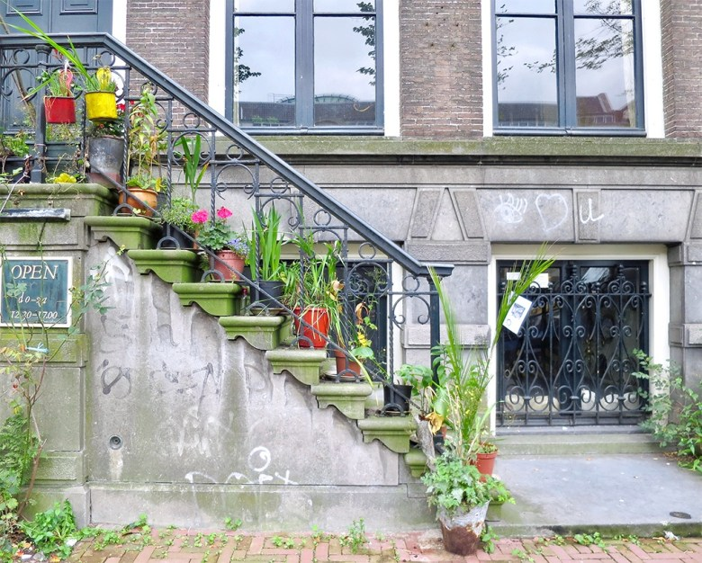 Exploring Amsterdam Front Door Steps