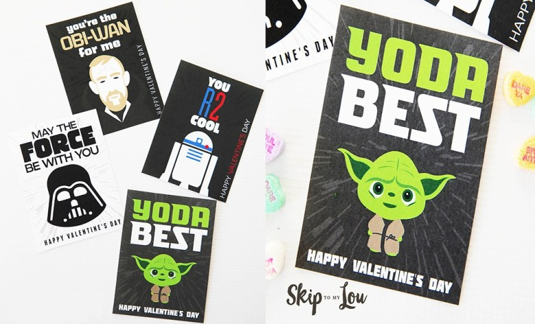 free star wars themed valentines cards