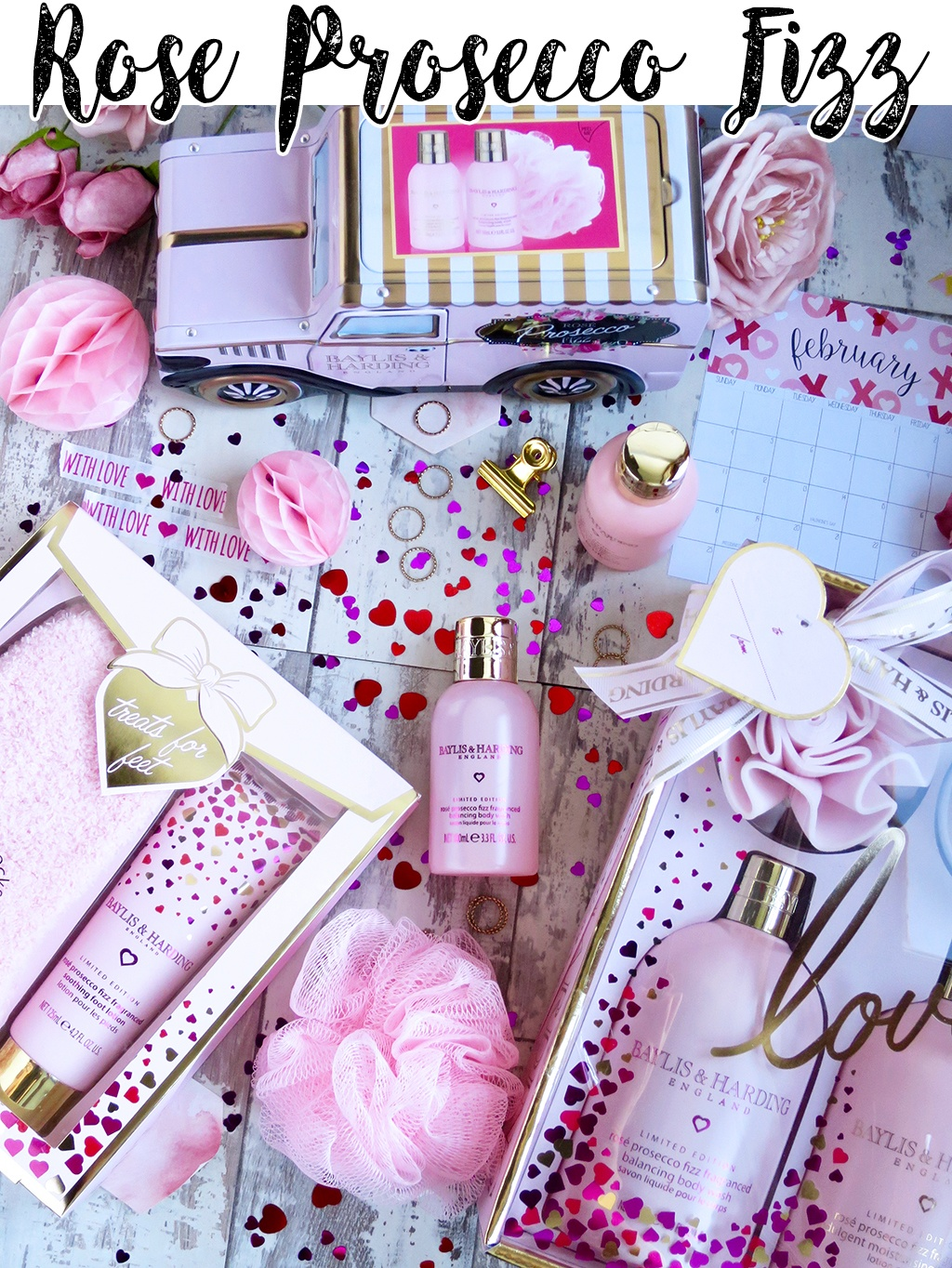 Rose Prosecco Fizz Collection From Baylis and Harding