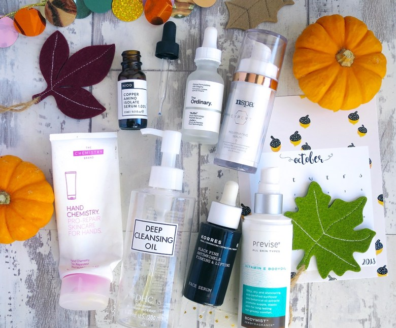 October Empty Beauty Products 2018