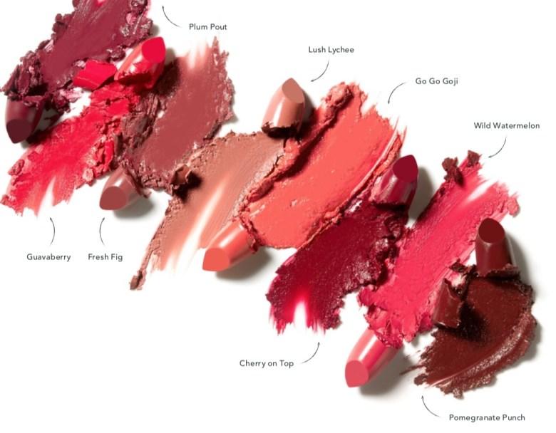 Tropic kiss me quick lipstick shade range