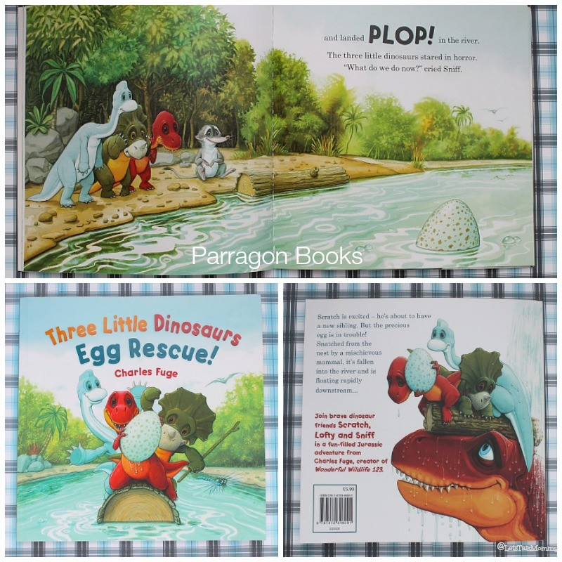 Three Little Dinosaurs Egg Rescue Book Review: {Time with
