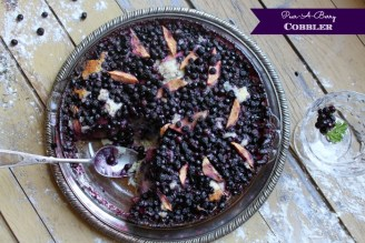 pear-a-berry cobbler huckleberry and pear cobbler