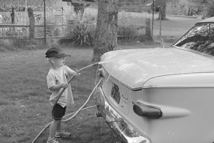 washing hot rods