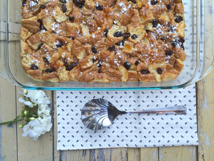 raisin croissant pudding recipe