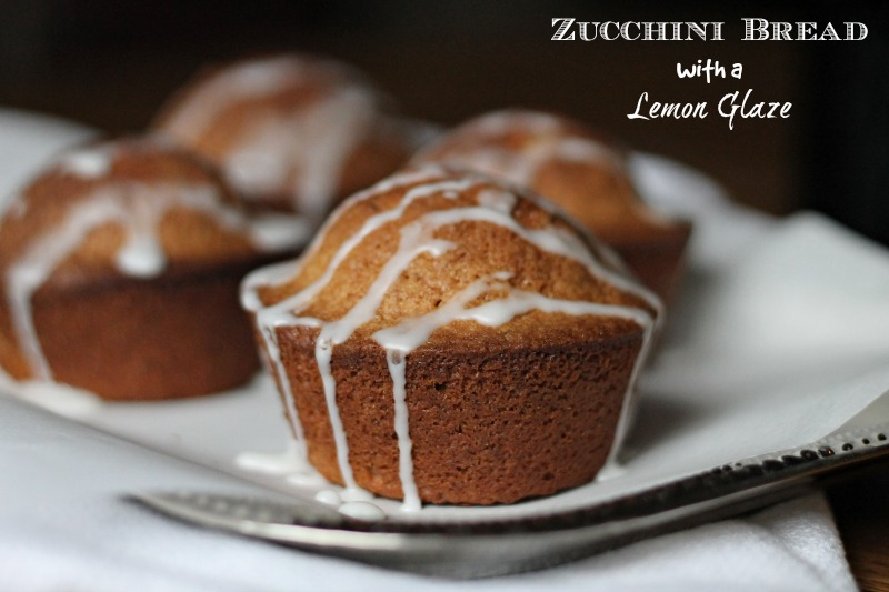 zucchini bread with a lemon glaze