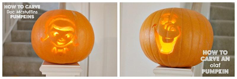 Olaf Pumpkins & Doc McStuffins Pumpkins How to carve a pumpkin