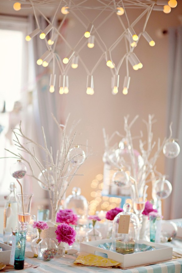 a pastel christmas decorations