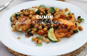 Cumin Grilled Chicken & Chickpea Salsa Recipe