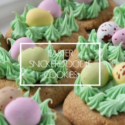 Easter Snickerdoodle Cookies ~ Recipe