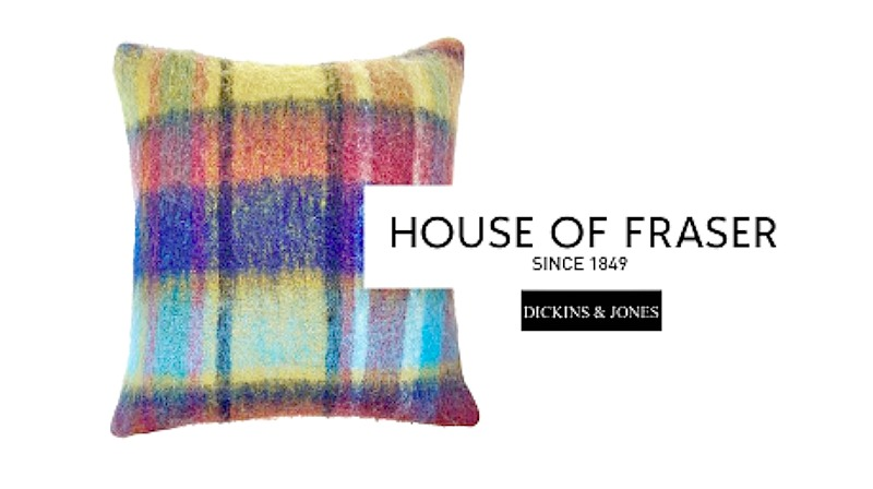 House of Fraser Dickins & Jones multicoloured cushion win giveaway