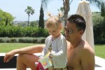 Family holiday fun in Marbella Spain traveling