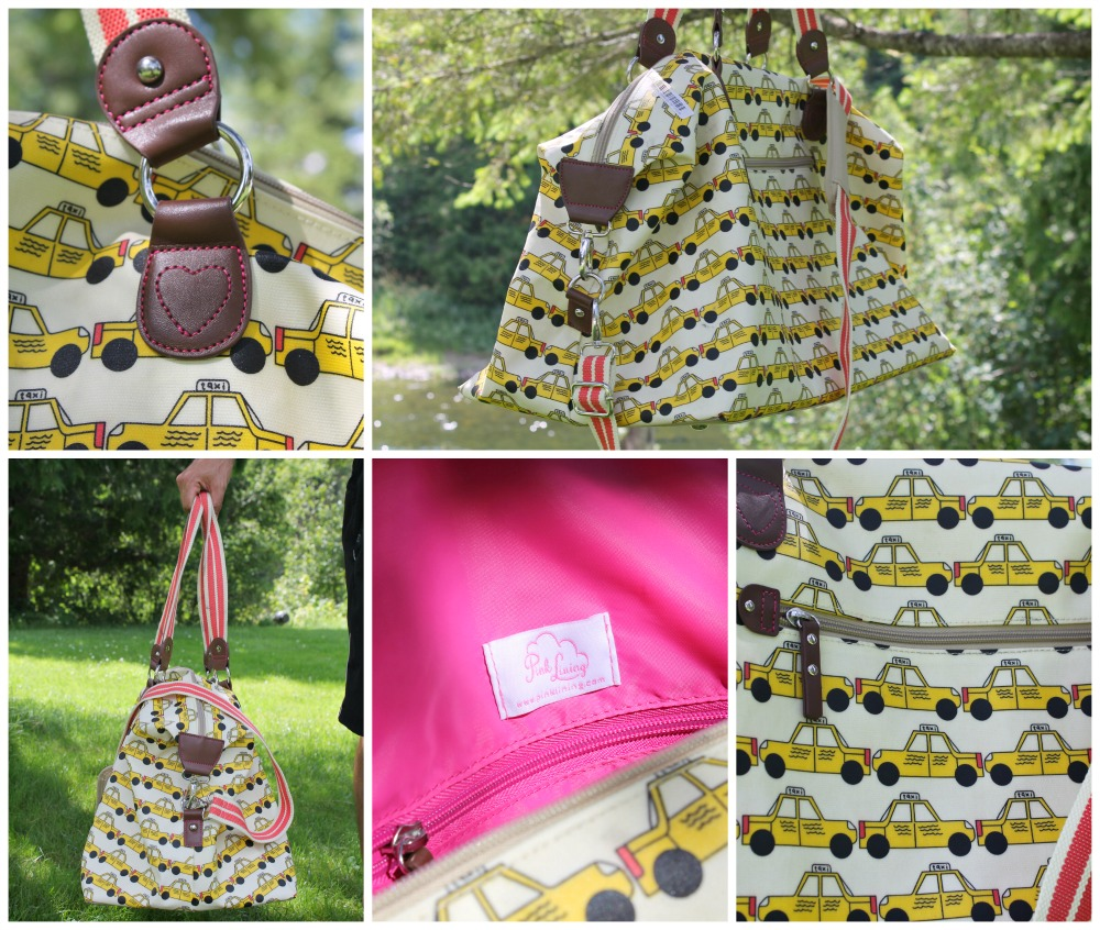 holdall yellow taxis from pink lining review travel bag kids bag