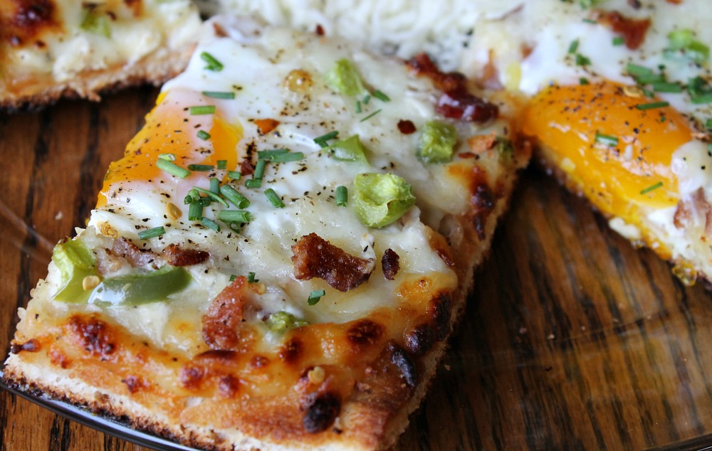 Egg & Bacon Breakfast Pizza Recipe