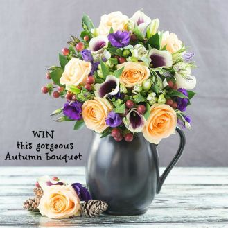 Saturday's blog birthday giveaway Appleyard London Autumn bouquets