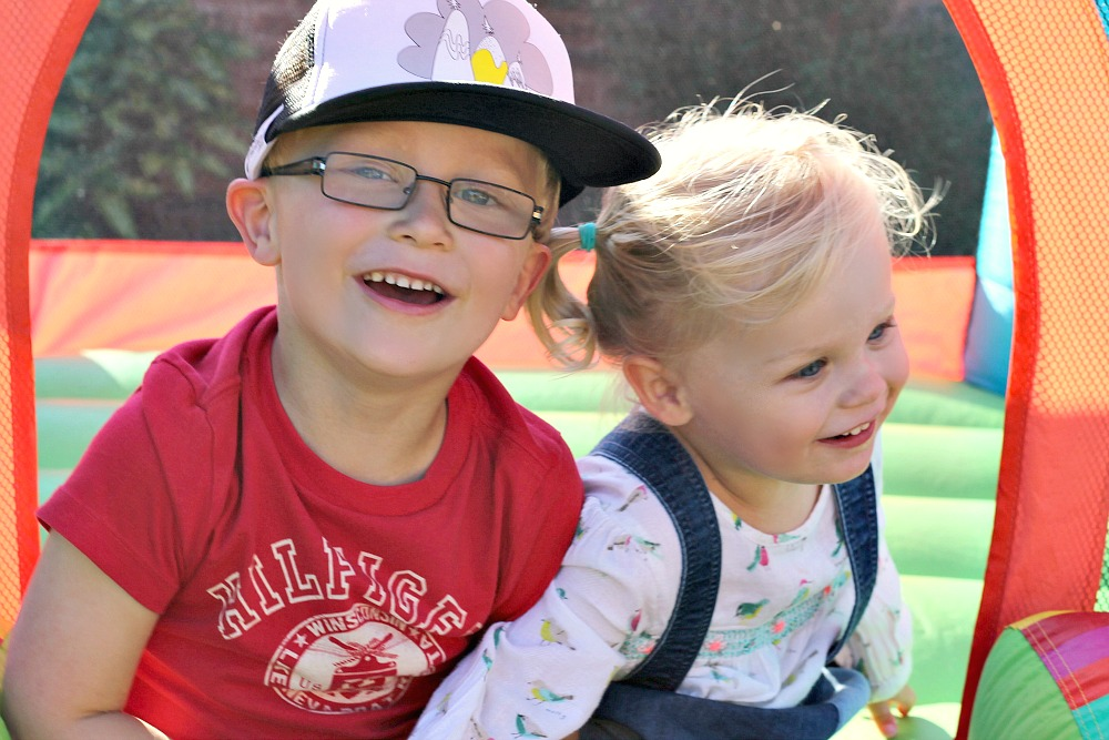 Siblings October a monthly family photo project
