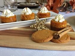 Thanksgiving Mini Pumpkin Cheesecake Recipe baking
