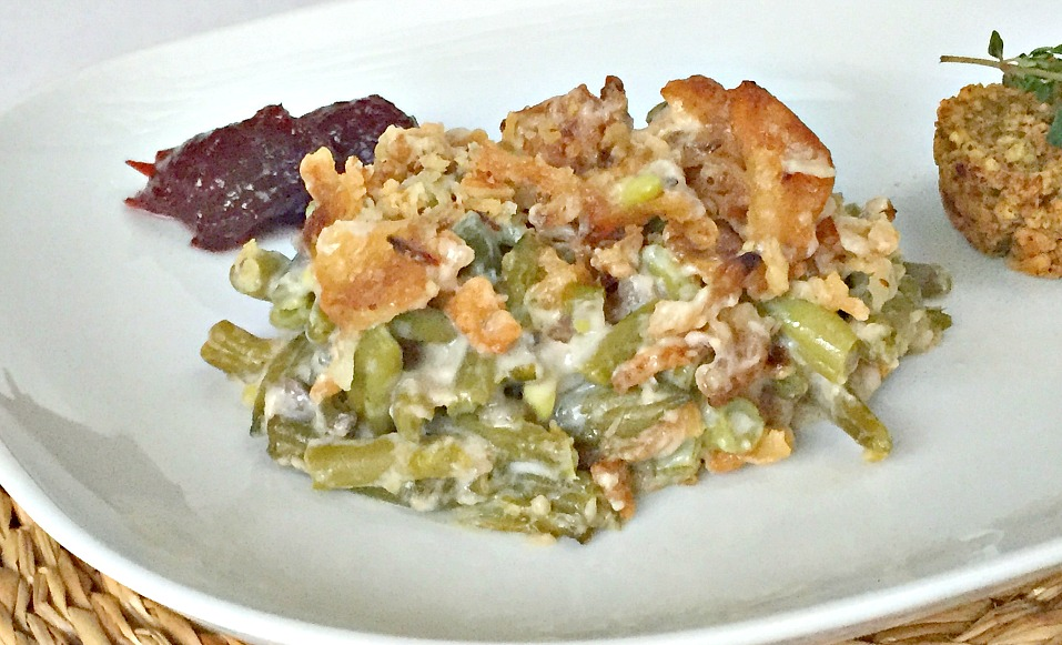 Green Bean Casserole Recipe Christmas Dinner or Thanksgiving