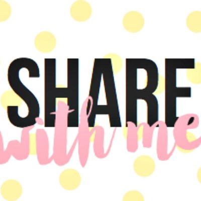Share With Me Blog Hop #3 + WIN