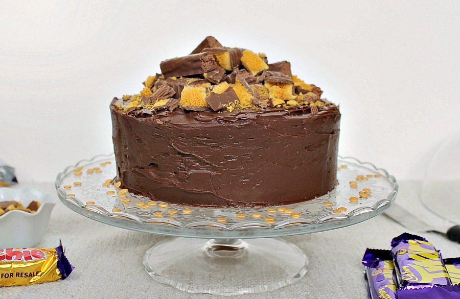 Cadbury Crunchie Coffee Cake With A Twirl