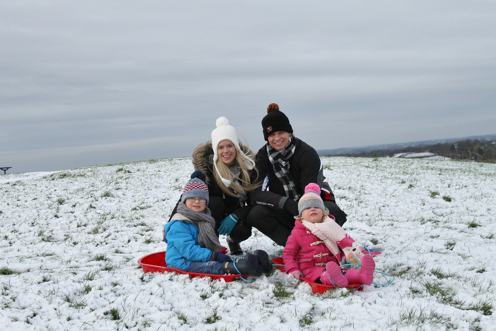 Our first family snow day