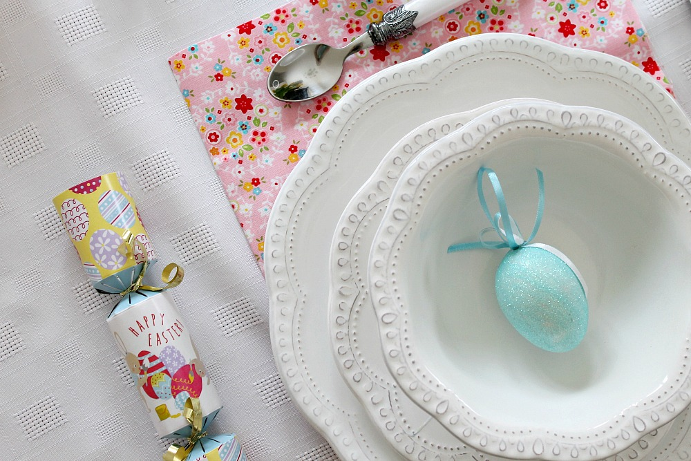 Easter Tablescape Table Setting Holiday Table Egg and Bunny Decor
