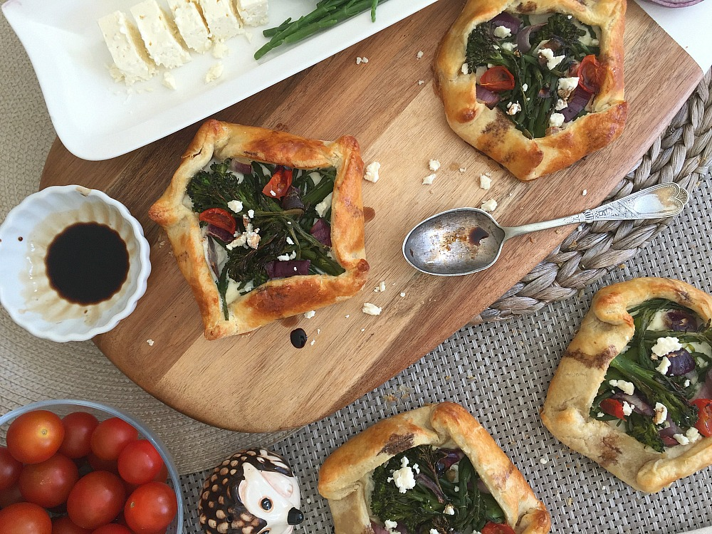 samphire broccoli galettes recipe family easy recipes feta cheese ricotta tomatoes galett