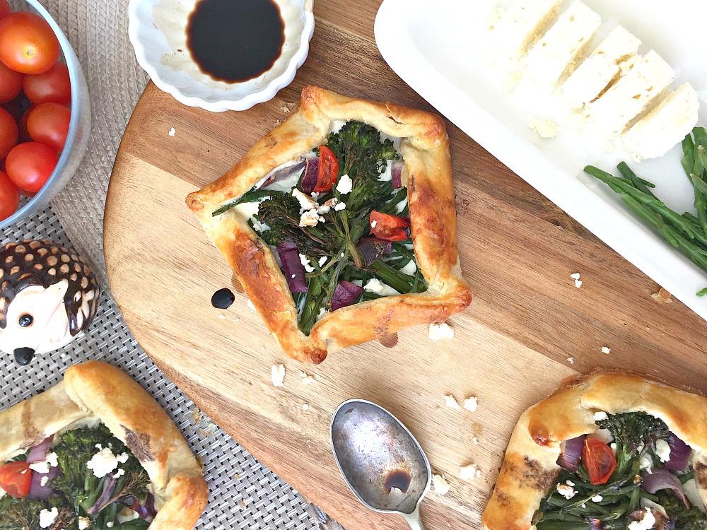 samphire broccoli galettes recipe family easy recipes feta cheese ricotta tomatoes galett