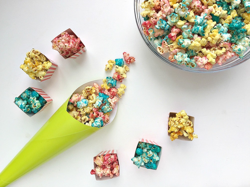 Fruity Rainbow Popcorn