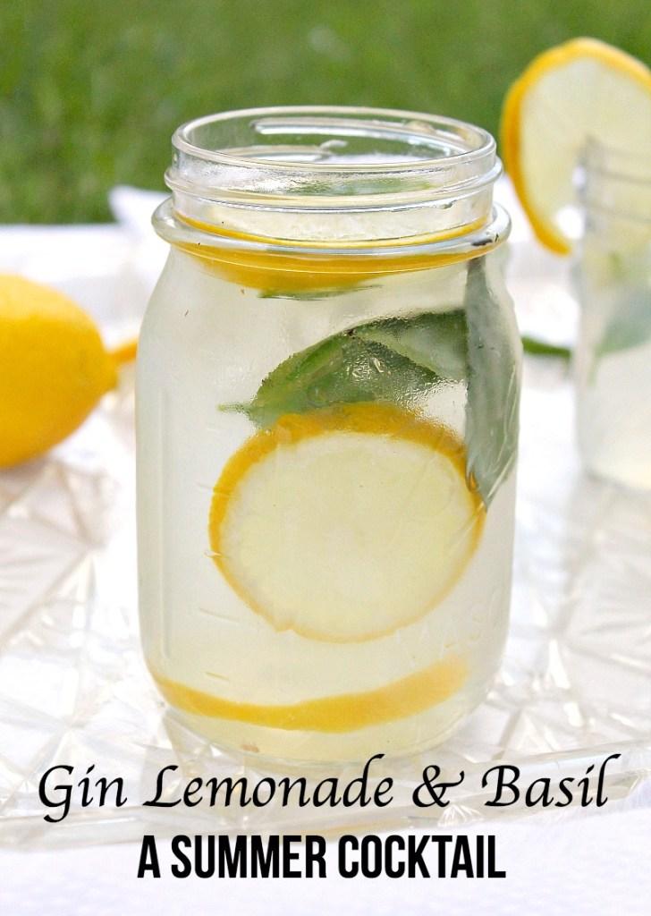 Gin Lemonade & Basil A Summer Cocktail recipe