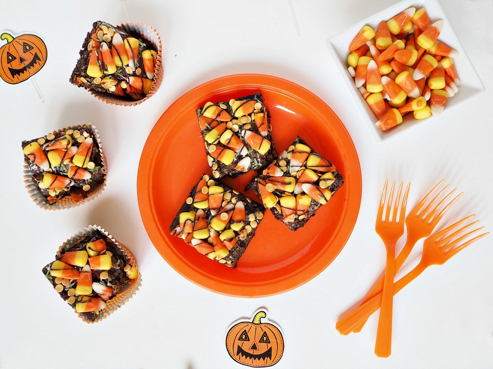 Candy Corn Halloween Brownies recipe easy