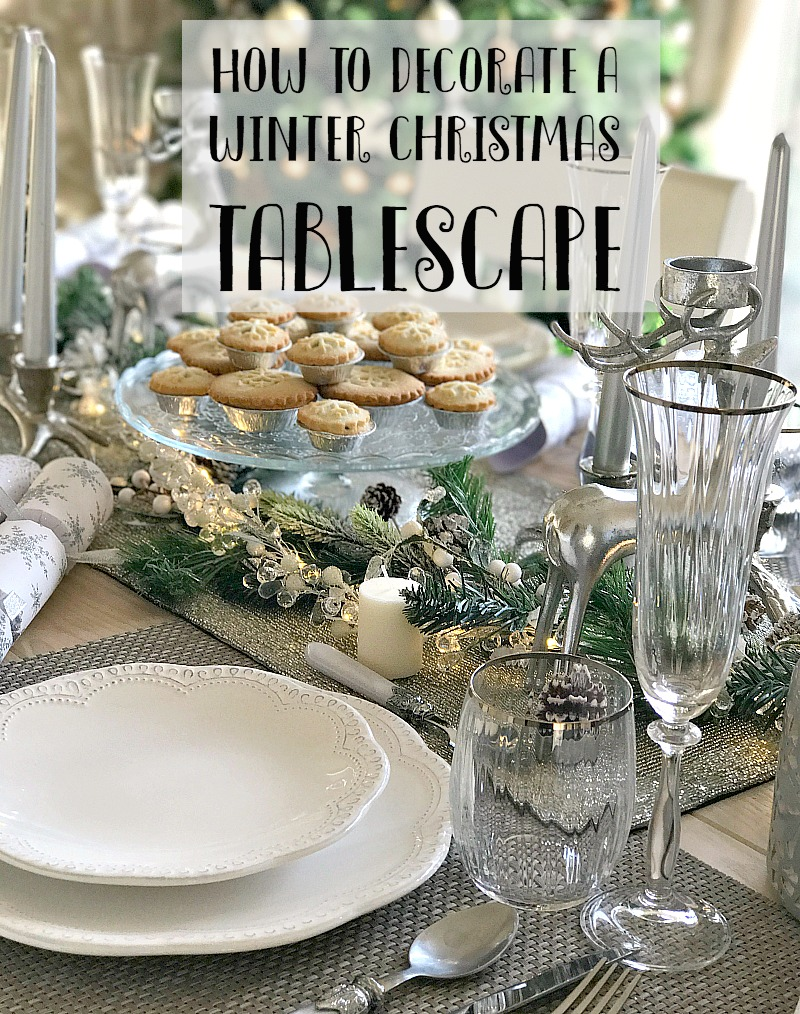 Winter Christmas Tablescape with Laura Ashley