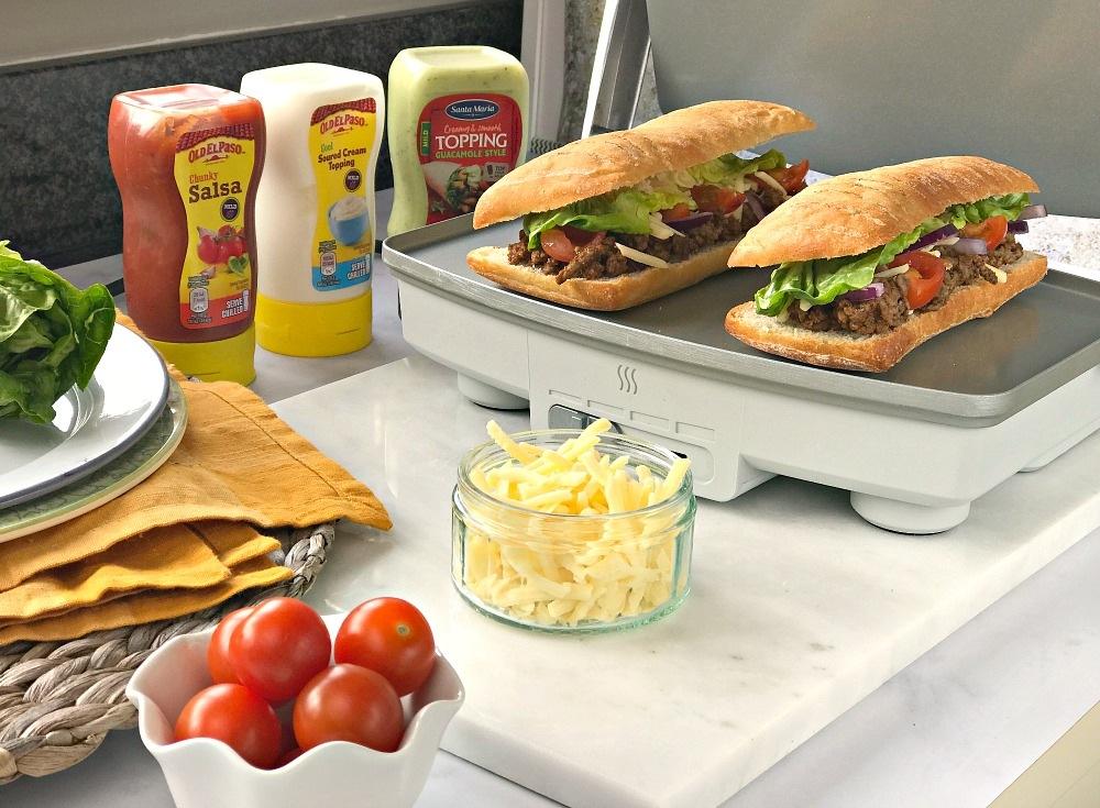 Breville 3 Slice DuraCeramic Sandwich Press Mexican Taco Toasties for British Sandwich Week