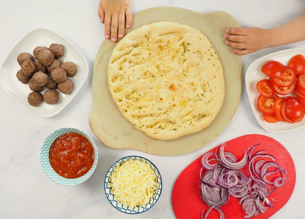 Netflix inspired Meatball Pizza recipe family movie night