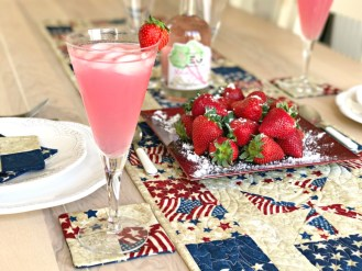 4th of July Rhubarb Gin Summer Fruits Tablescape