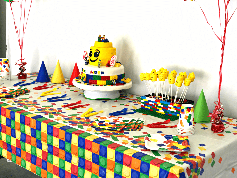 Lego themed birthday party for sixth birthday celebrations