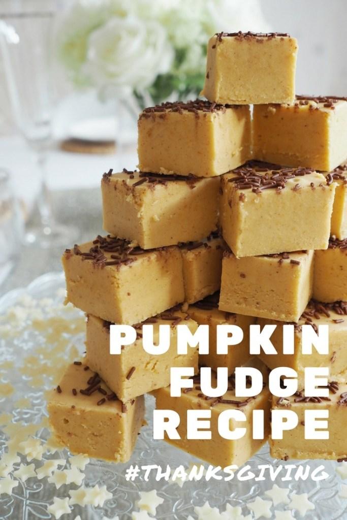 Pumpkin Fudge recipe for thanksgiving