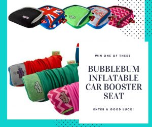 WIn giveaway prize competition booster seats inflatable travel car seats BubbleBum