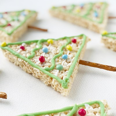 Rice Krispy Christmas Tree Treats