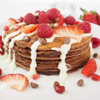 Berry Chocolate Pancakes