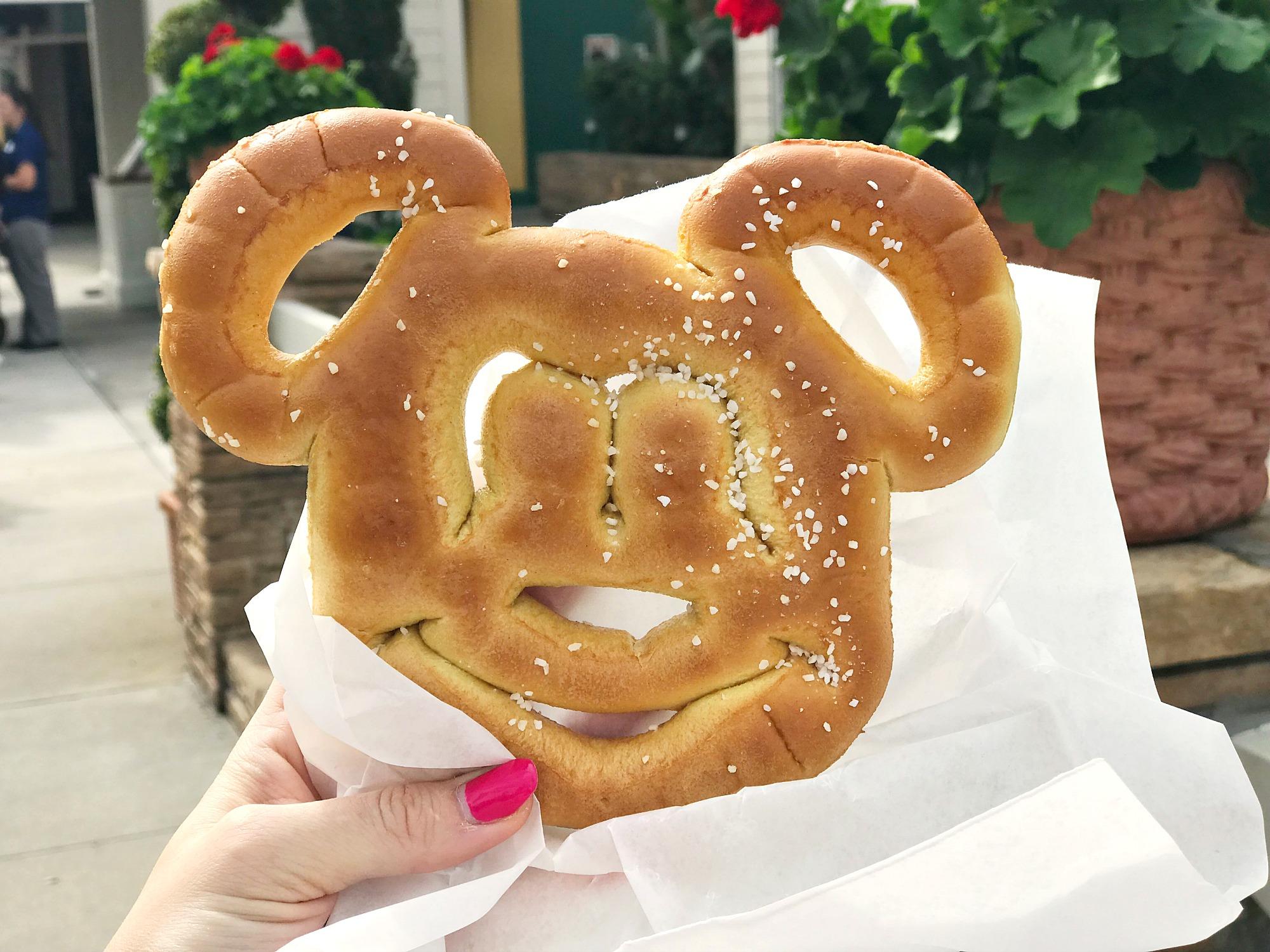 Mickey Mouse pretzels Walt Disney World magic kingdom