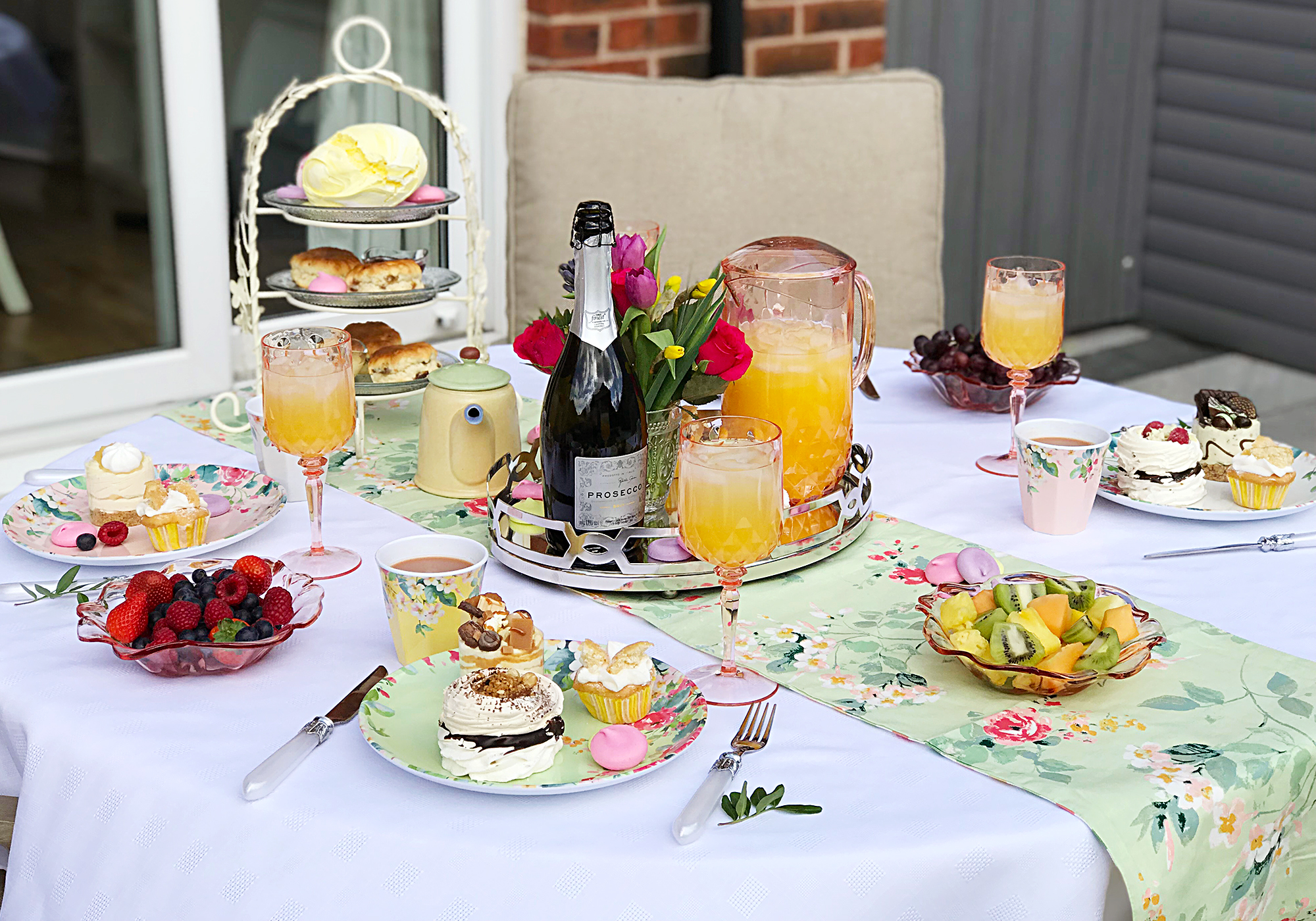How to Style a Garden Afternoon Tea Baby Shower with Laura Ashley