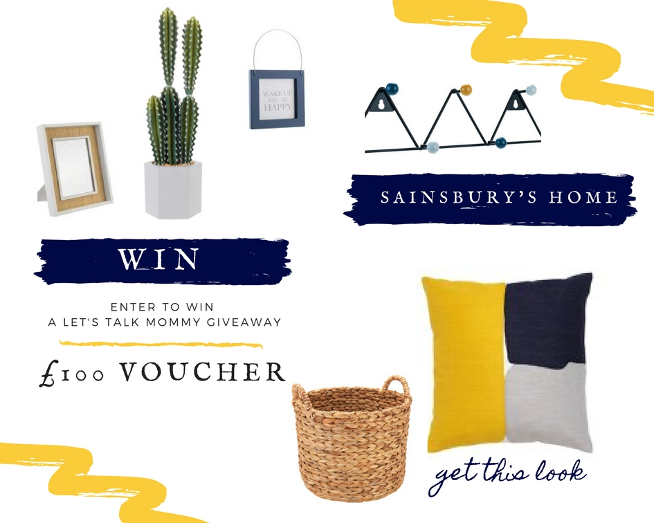 Win the Sainsbury's Home interior look here competition £100 Voucher