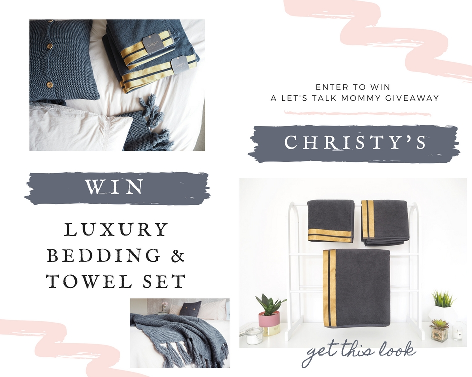 Christy's England Luxury Bedding Towels Linens peonia pink charcoal grey bedding duvet sets duvet cover giveaway