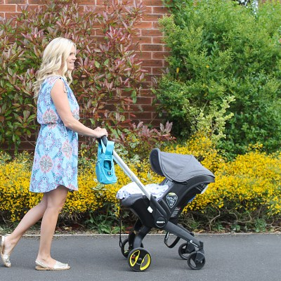 """The Doona"" – Car Seat to Stroller with one button"